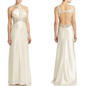 Betsy & Adam Embellished Charmeuse Gown🌼